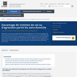 + de victimes de vol ou d'agression parmi les sans-domicile (2010-2011)