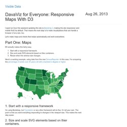 DavaViz for Everyone: Responsive Maps With D3