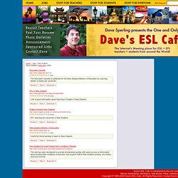 Dave's ESL Cafe's Web Guide!: Jobs/New Zealand