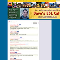 Dave's ESL Cafe's Web Guide!: Lesson Plans