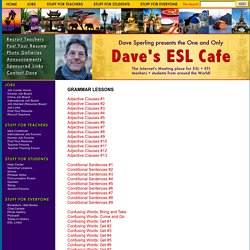 Dave's ESL Cafe: Free English Grammar Lessons
