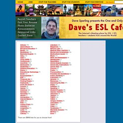 Dave's ESL Cafe's Web Guide!