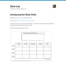 Dave Lee — Introducing the Week Chart