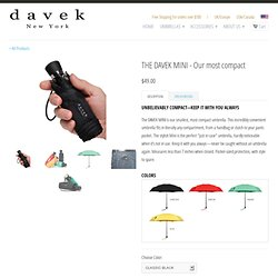 Davek Mini Umbrella - High Quality Umbrella - Small and compact - Gifts for Him - Gifts for Her - Gifts for men and women - Corporate Gifts