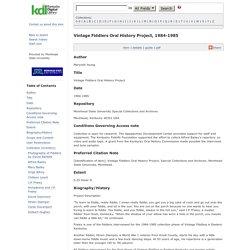 Clyde Davenport - Kentucky Digital Library