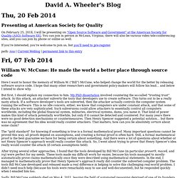 David A. Wheeler's Blog
