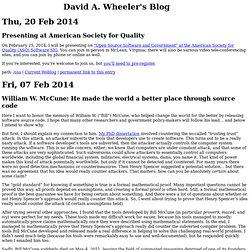 David A. Wheeler's Blog