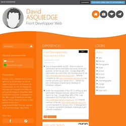 David ASQUIEDGE - CV - Front Developper Web