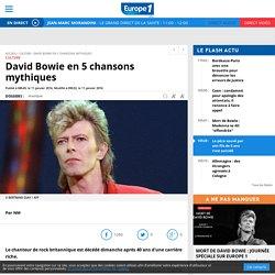 David Bowie en 5 chansons mythiques