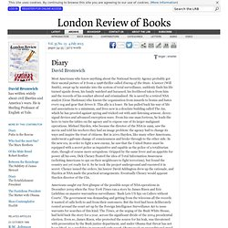 David Bromwich · Diary: The Snowden Case · LRB 4 July 2013