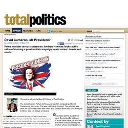 David Cameron, Mr President?
