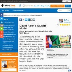 David Rock's SCARF Model - Career Skills From Mindtools.com