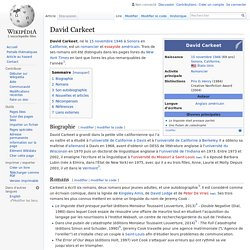 David Carkeet