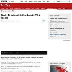 David Bowie exhibition breaks V&A record