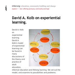 David A. Kolb on experiential learning. – infed.org: