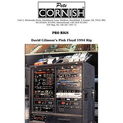 David Gilmour's Pink Floyd 1994 Rig