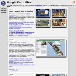David's Google Earth files