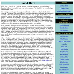 David Hare (1947- )