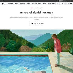 an a-z of david hockney