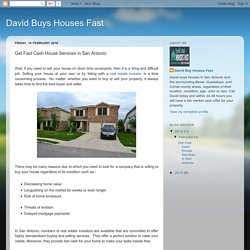 David Buys Houses Fast: Get Fast Cash House Services in San Antonio