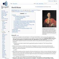 David Hume, wikiquote