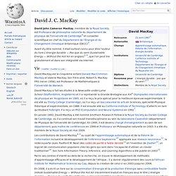 David J. C. MacKay