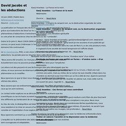 David Jacobs et les abductions