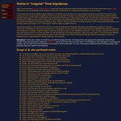 David Kaplowitz's Odd Time Page