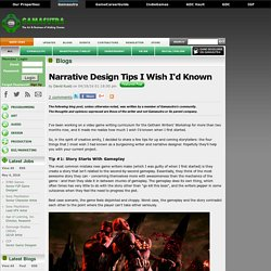 David Kuelz's Blog - Narrative Design Tips I Wish I'd Known