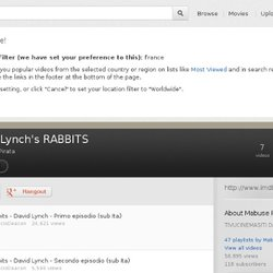 David Lynch's RABBITS