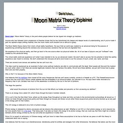 David Icke's Moon Matrix Theory Explained