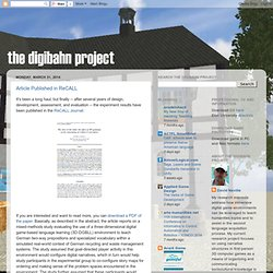 David Neville: The DigiBahn Project