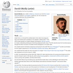 David OReilly (artist) - Wikipedia