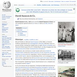 David Sassoon & Co.