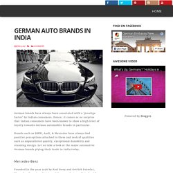 German Auto Brands in India
