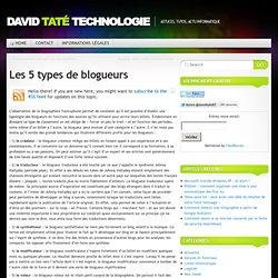 Les 5 types de blogueurs
