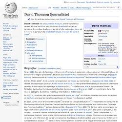 Wikipédia : David Thomson (journaliste)
