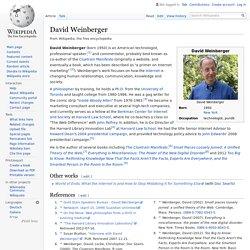 David Weinberger - Wikipedia