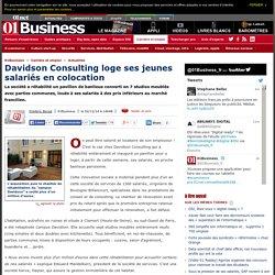 Davidson Consulting loge ses jeunes salariés en colocation