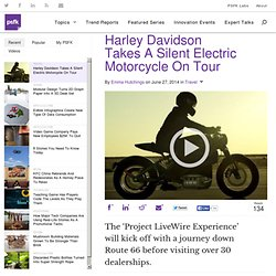 Harley Davidson Takes A Silent Electric Motorcycle On Tour