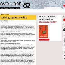 Rjurik Davidson « Overland literary journal
