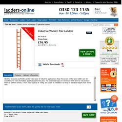 TB Davies Wooden Pole Ladders For Scaffolding Access