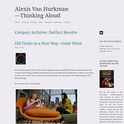 Alexis Van Hurkman—Thinking Aloud