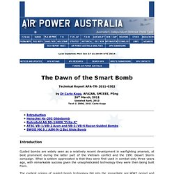 Dawn of the Smart Bomb