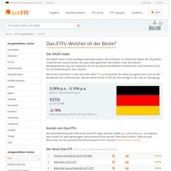 Dax-ETFs: Welcher ist der Beste?