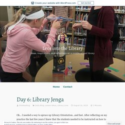 Day 6: Library Jenga – Lens into the Library