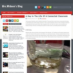 Un Día En La Vida De Un Blog de Connected Classroom ~ Mrs. Wideen