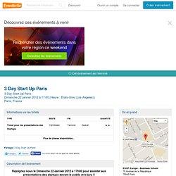 3 Day Start Up Paris