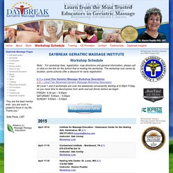 Daybreak Geriatric Massage Institute