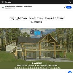 Daylight Basement House Plans & Home Designs on Behance